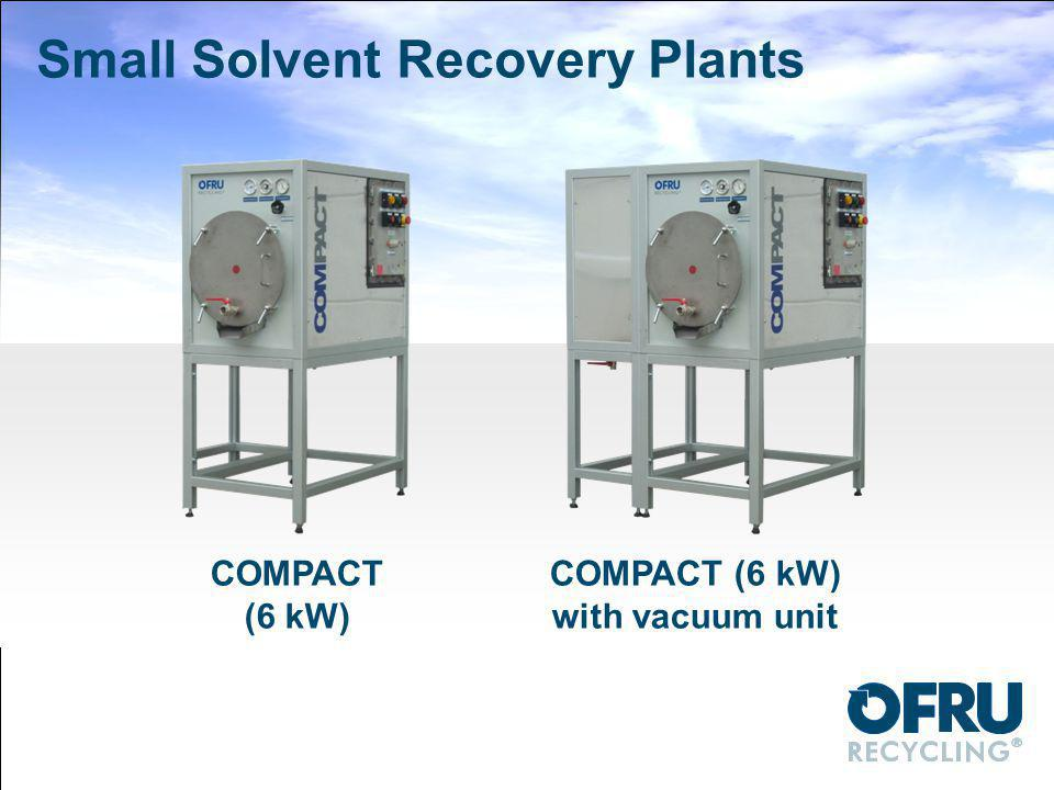 Small Solvent Recovery Plants