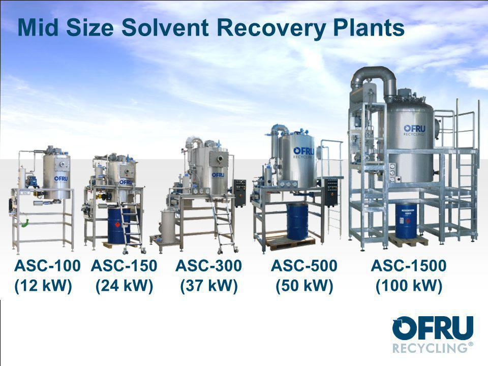 Mid Size Solvent Recovery Plants