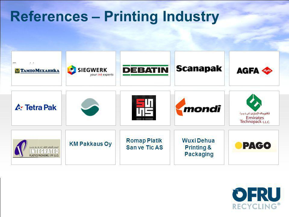 References – Printing Industry