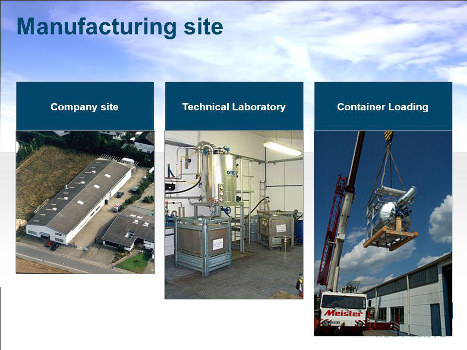 Manufacturing site Company site Technical Laboratory Container Loading