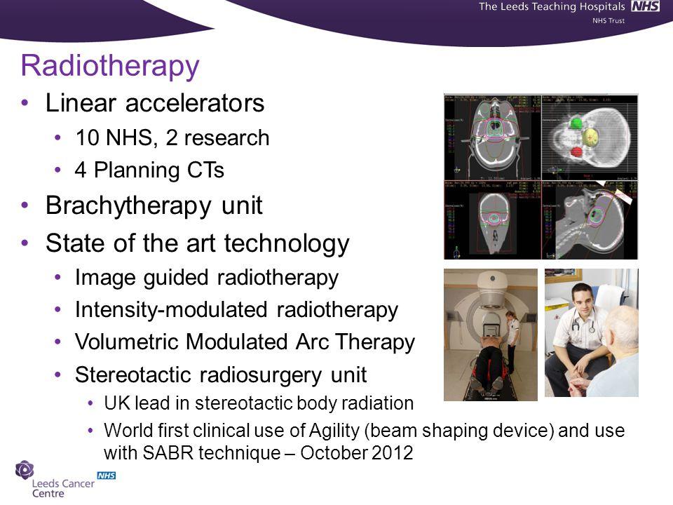 Radiotherapy Linear accelerators Brachytherapy unit