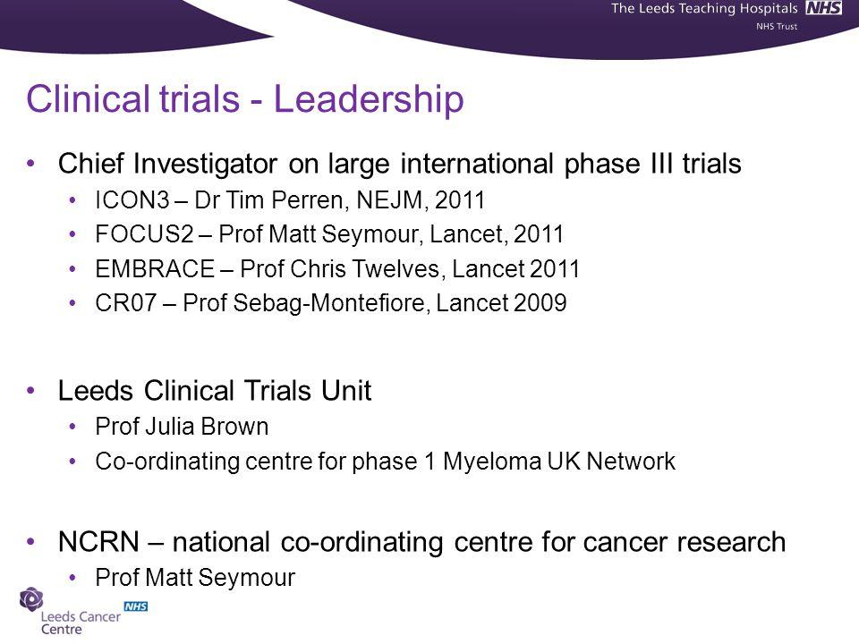 Clinical trials - Leadership