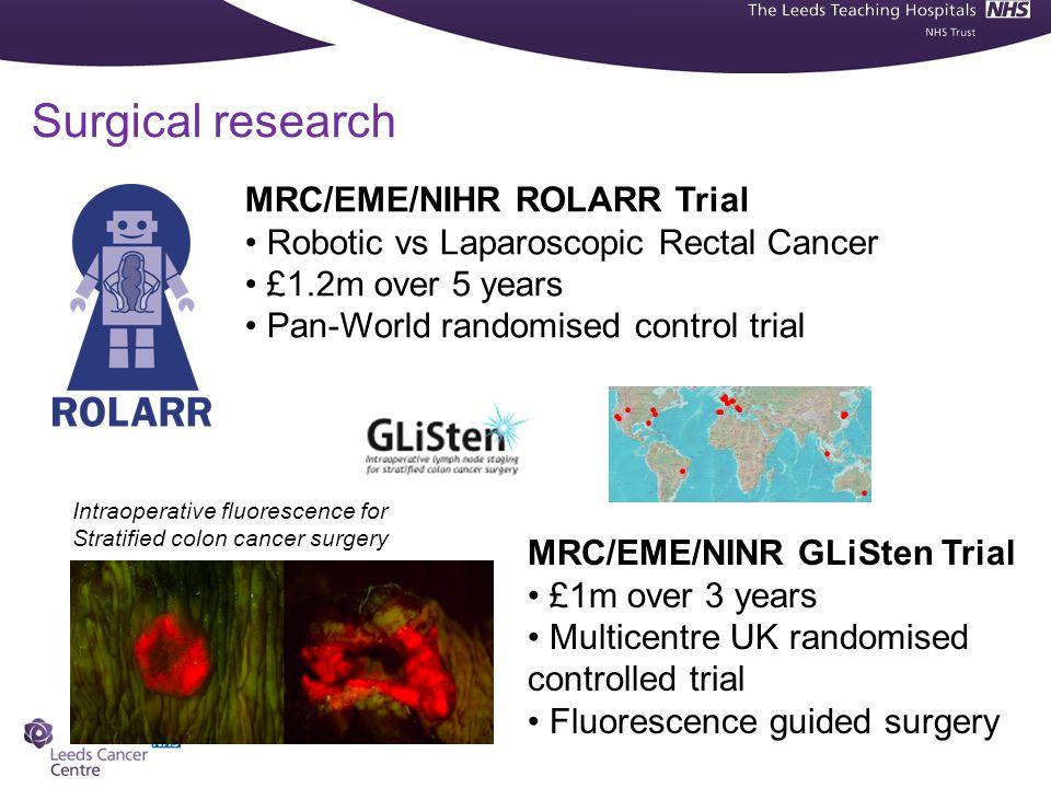 Surgical research MRC/EME/NIHR ROLARR Trial