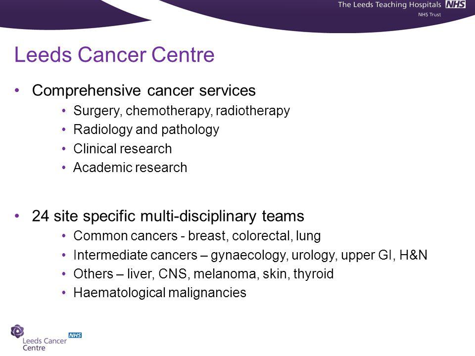 Leeds Cancer Centre Comprehensive cancer services