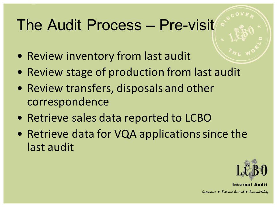 The Audit Process – Pre-visit