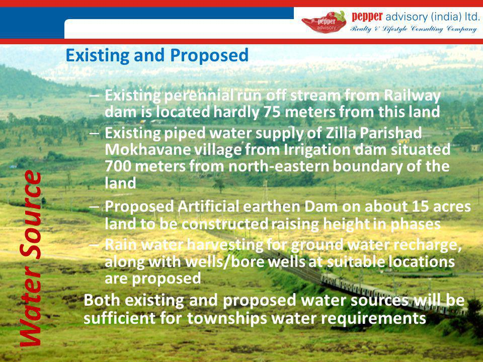 Water Source Existing and Proposed