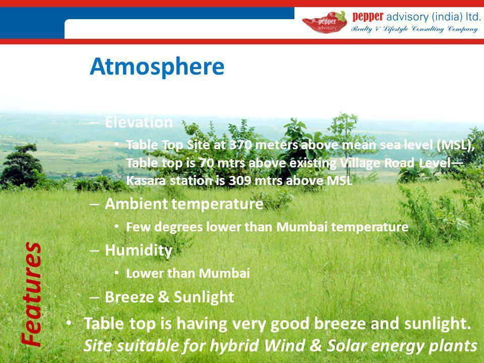 Atmosphere Elevation.