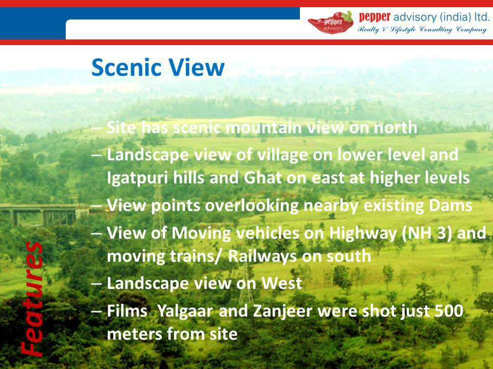 Features Scenic View Site has scenic mountain view on north