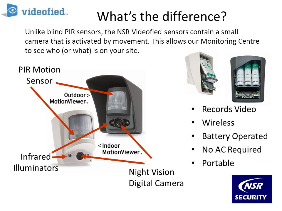 What's the difference PIR Motion Sensor Records Video Wireless