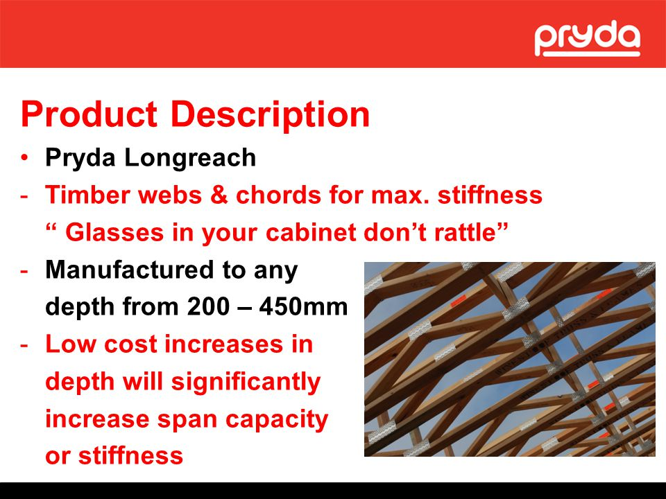 Product Description Pryda Longreach