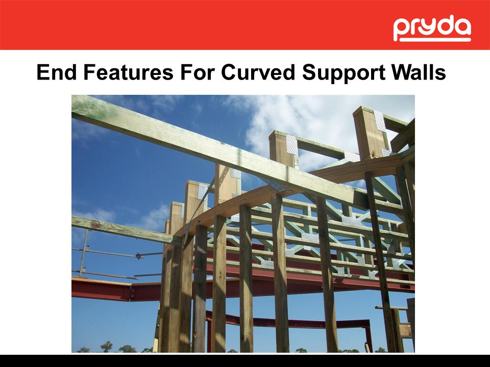 End Features For Curved Support Walls