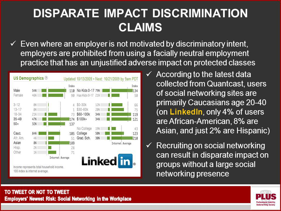 DISPARATE IMPACT DISCRIMINATION CLAIMS