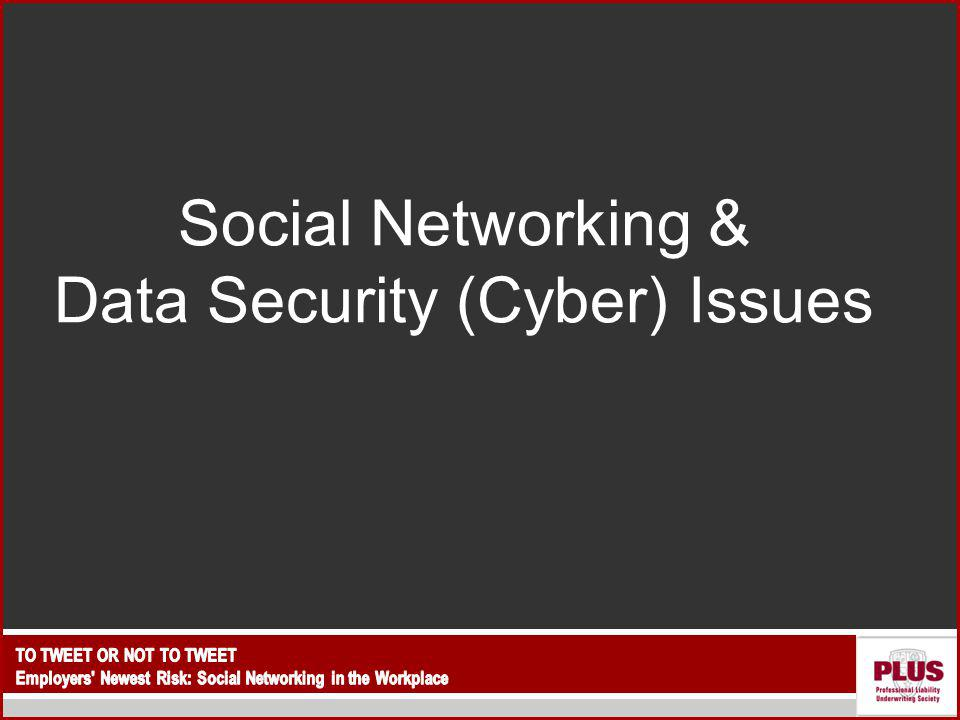 Social Networking & Data Security (Cyber) Issues