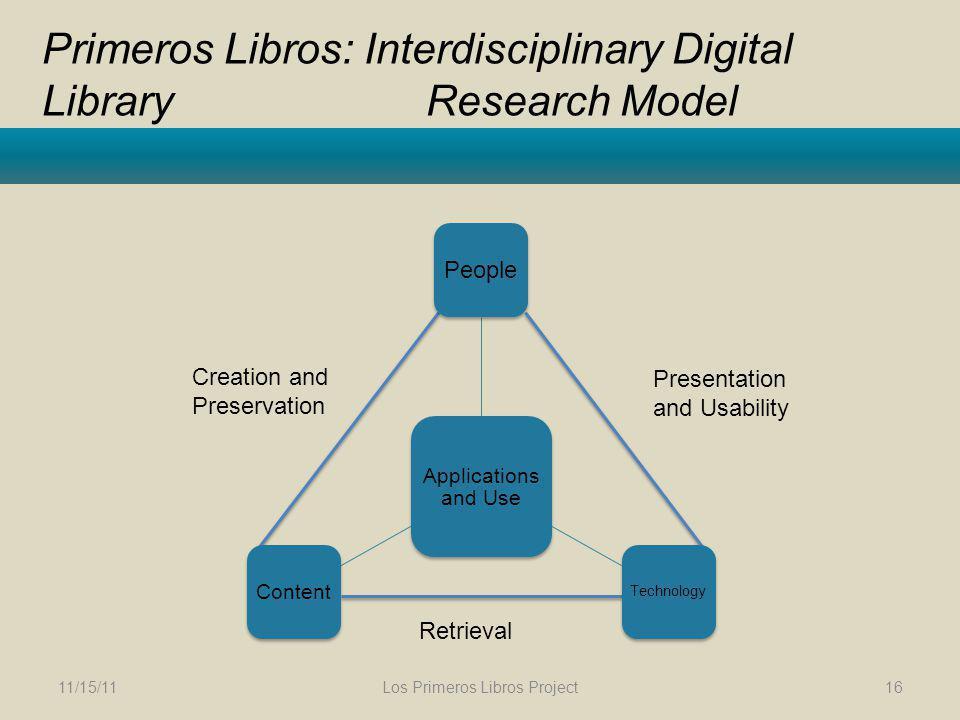 Primeros Libros: Interdisciplinary Digital Library Research Model