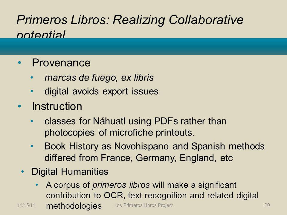 Primeros Libros: Realizing Collaborative potential