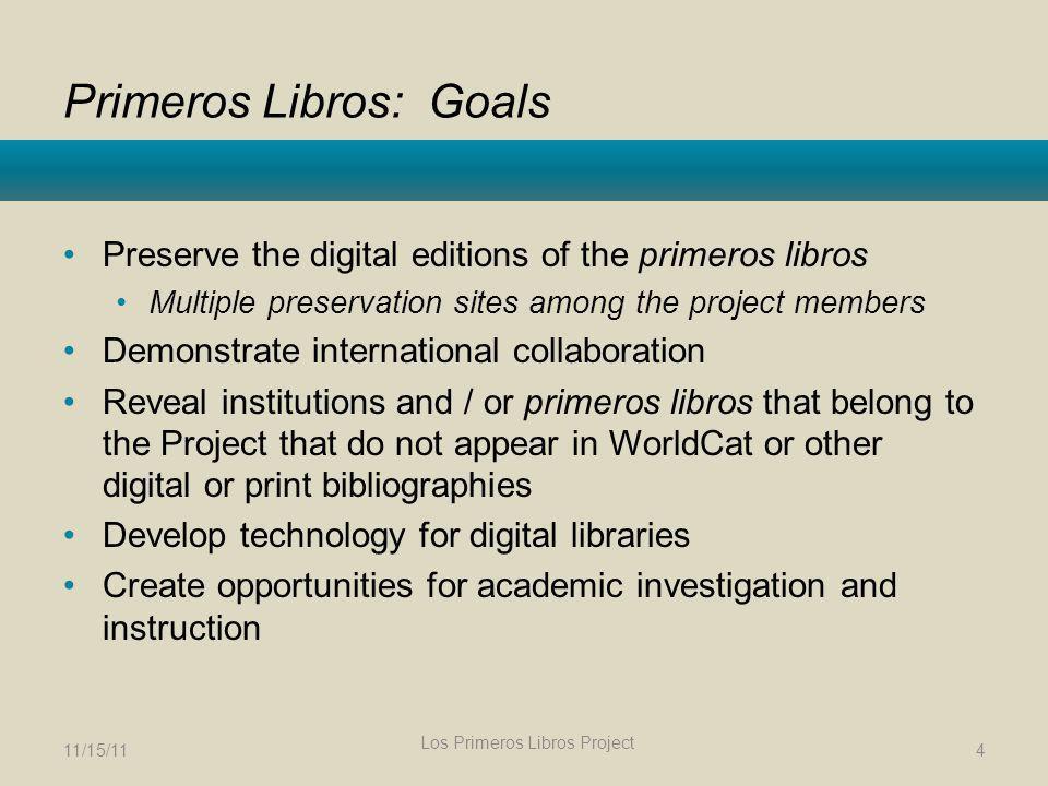 Primeros Libros: Goals