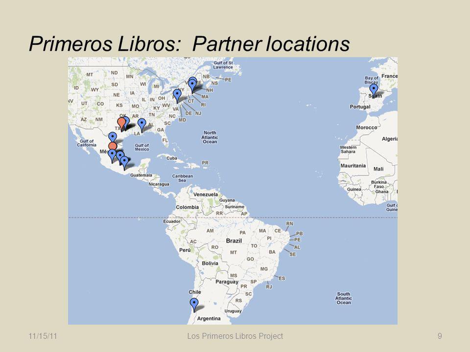 Primeros Libros: Partner locations