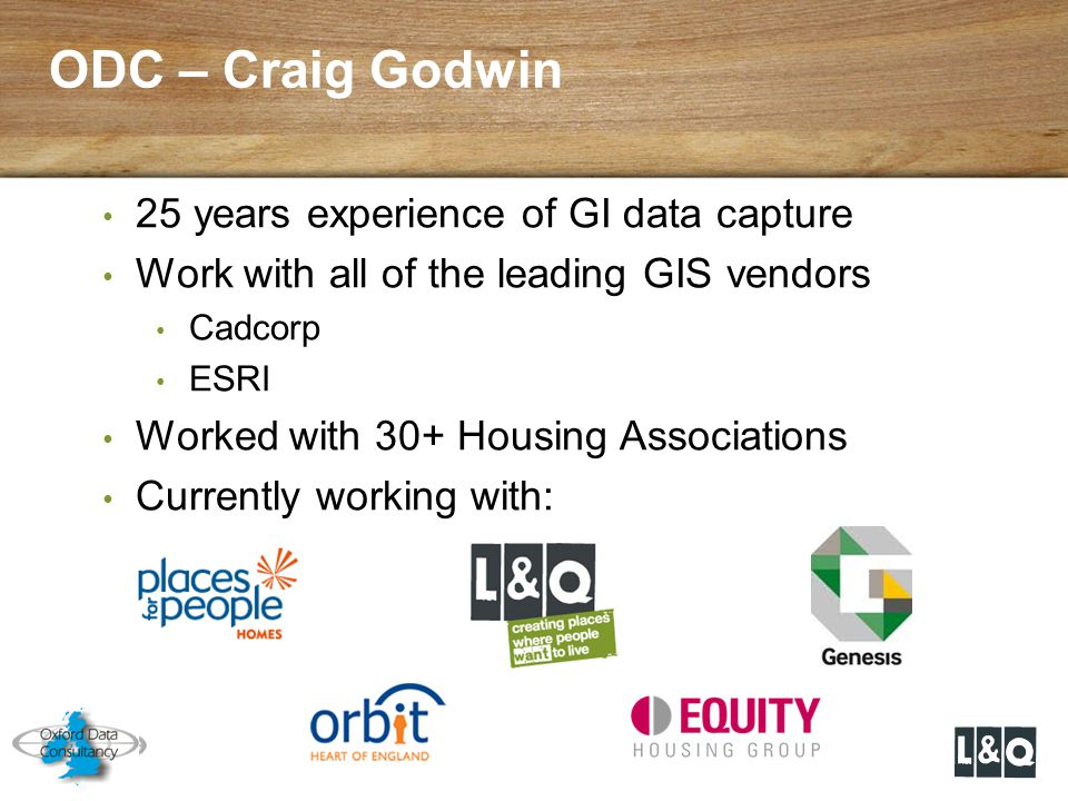 ODC – Craig Godwin 25 years experience of GI data capture