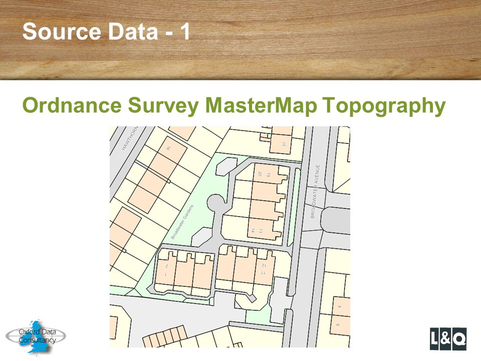 Source Data - 1 Ordnance Survey MasterMap Topography