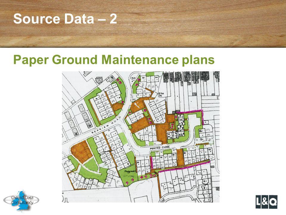 Source Data – 2 Paper Ground Maintenance plans