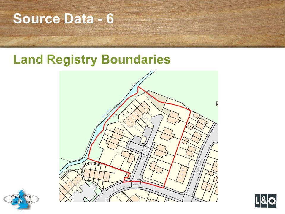 Source Data - 6 Land Registry Boundaries
