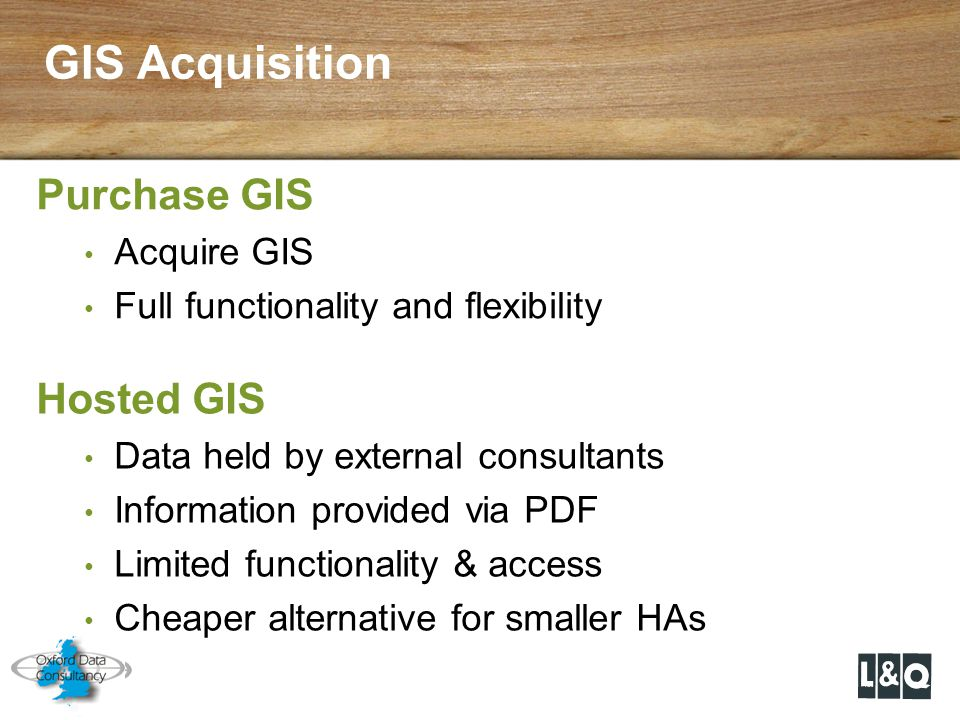 GIS Acquisition Purchase GIS Hosted GIS Acquire GIS