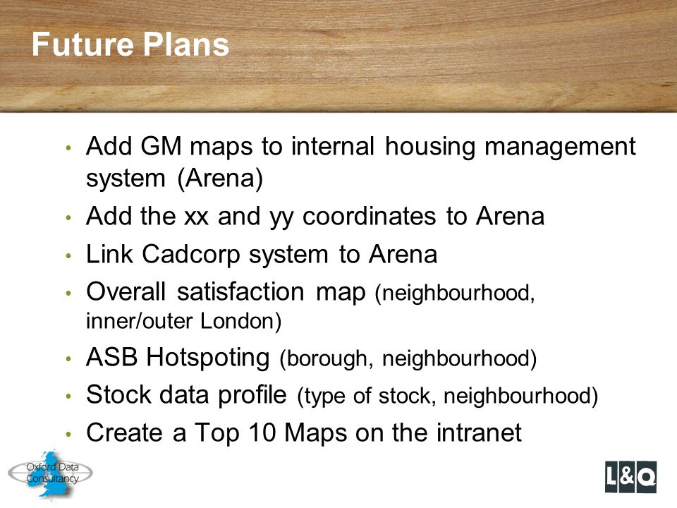 Future Plans Add GM maps to internal housing management system (Arena)
