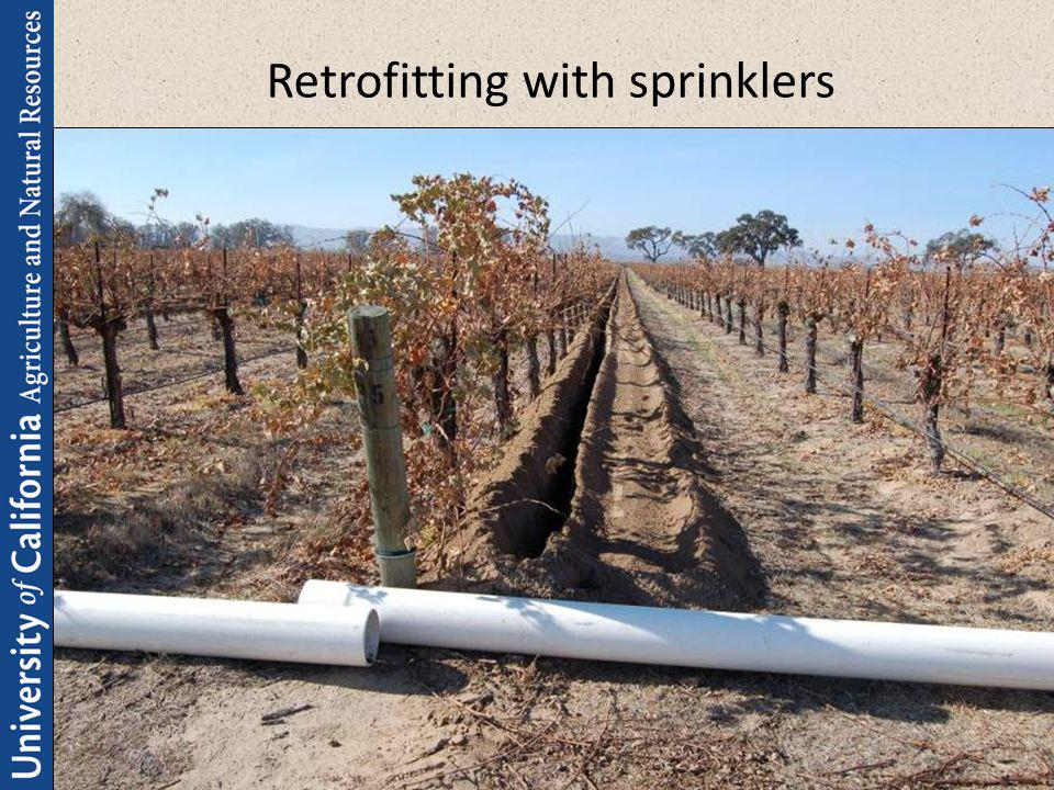 Retrofitting with sprinklers