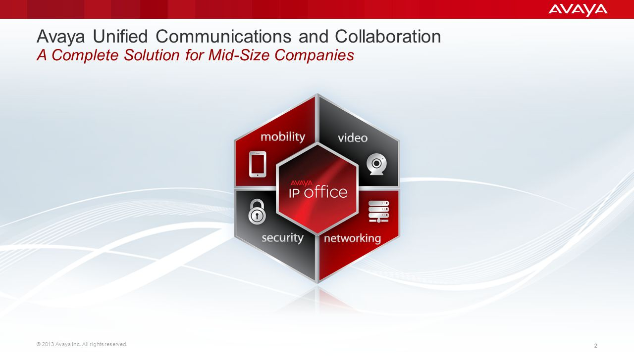 Avaya Unified Communications and Collaboration A Complete Solution for Mid-Size Companies