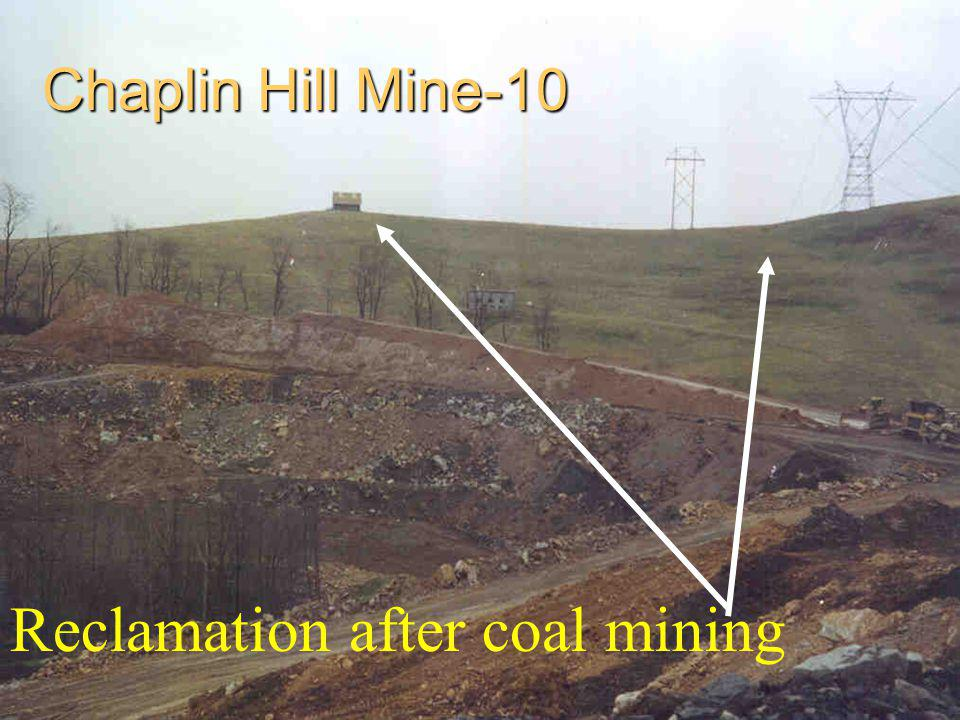 Reclamation after coal mining