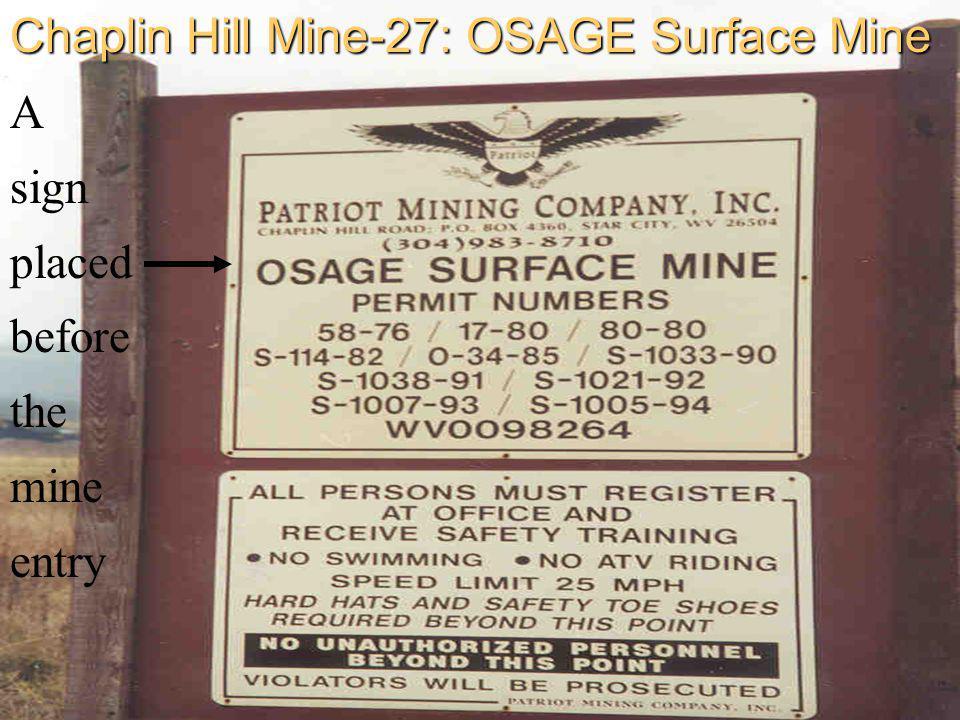 Chaplin Hill Mine-27: OSAGE Surface Mine