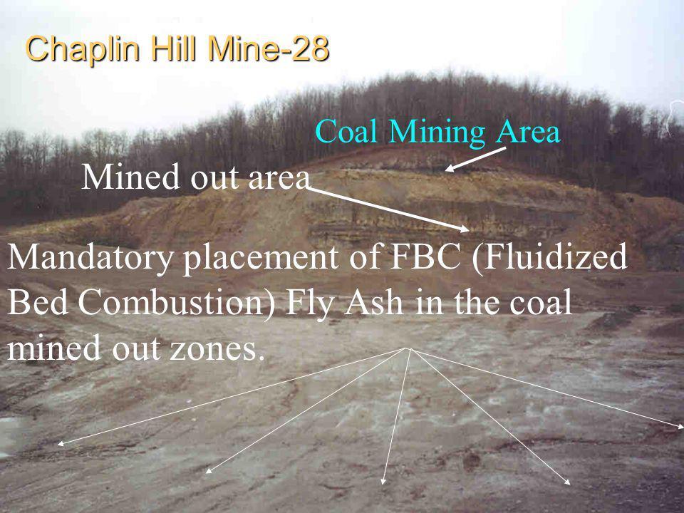 Chaplin Hill Mine-28 Coal Mining Area. Mined out area.
