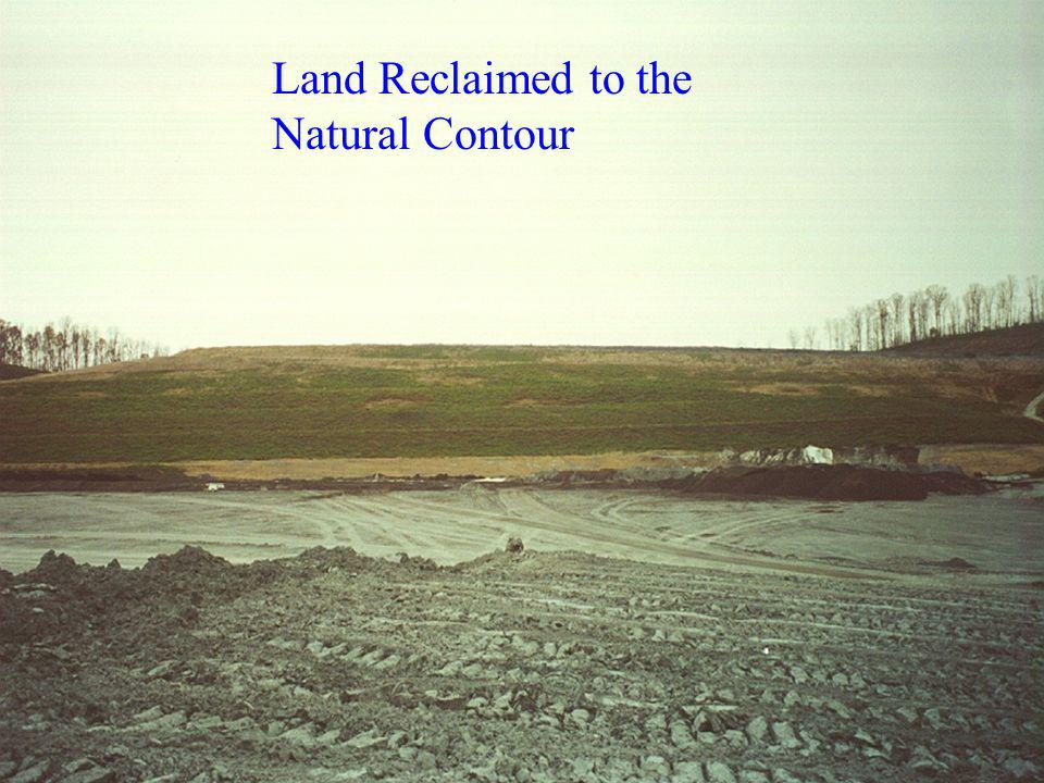Land Reclaimed to the Natural Contour