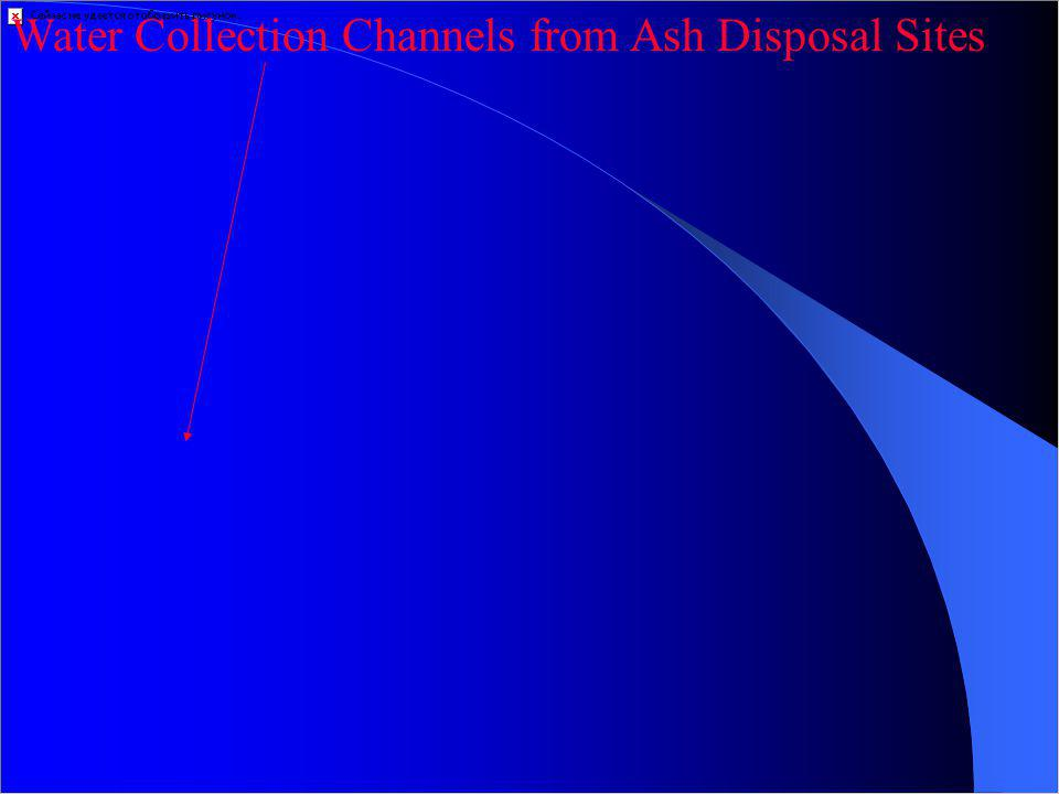 Water Collection Channels from Ash Disposal Sites