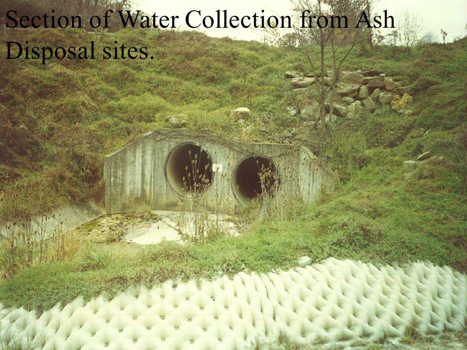 Section of Water Collection from Ash Disposal sites.
