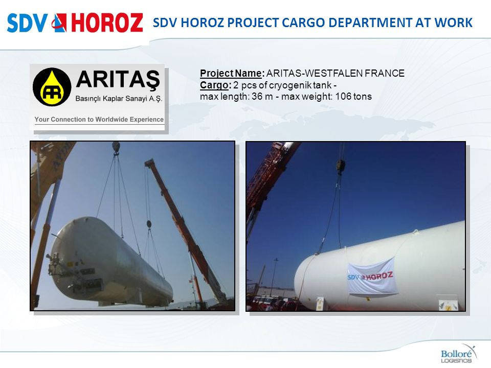 SDV HOROZ PROJECT CARGO DEPARTMENT AT WORK