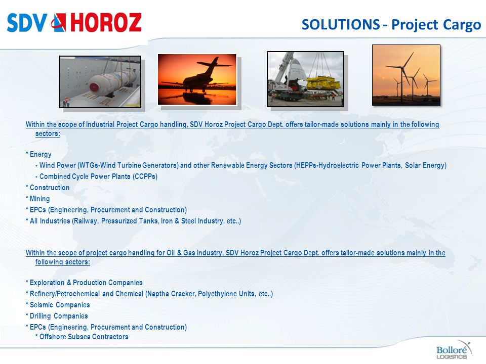 SOLUTIONS - Project Cargo
