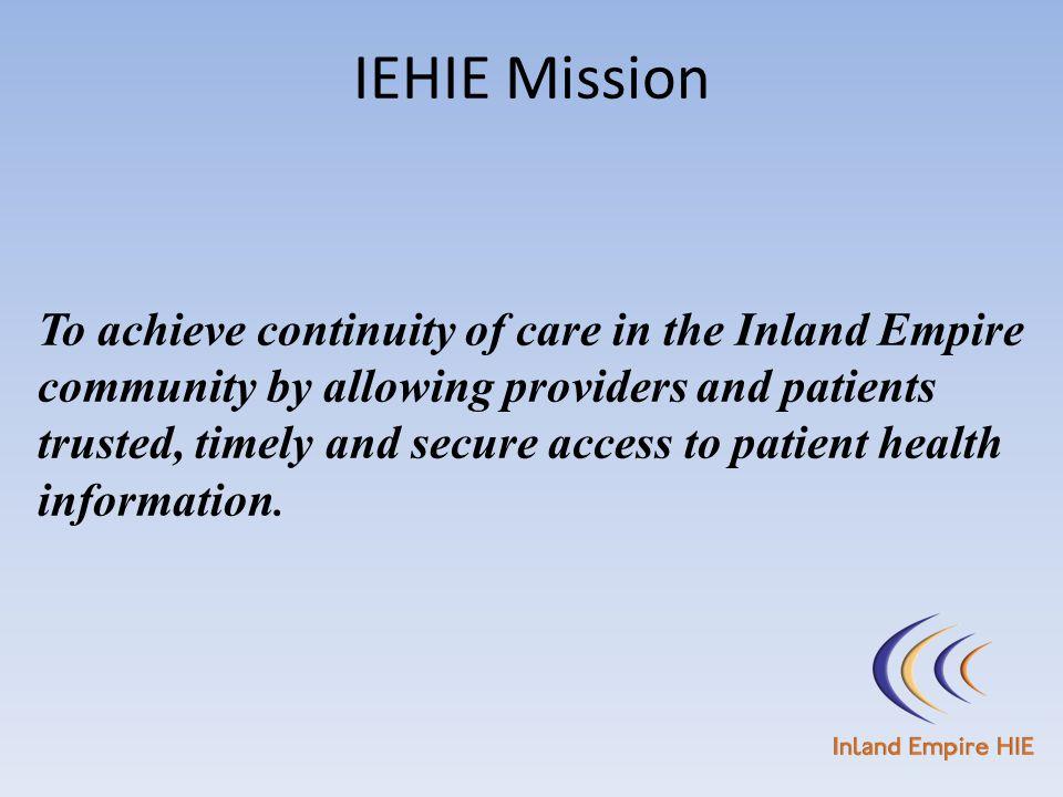 IEHIE Mission