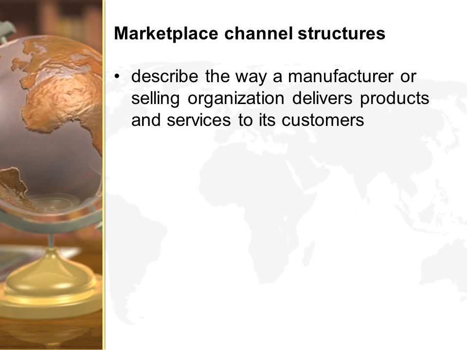Marketplace channel structures