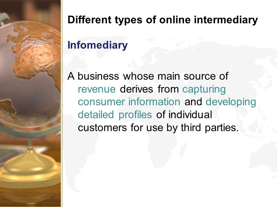 Different types of online intermediary