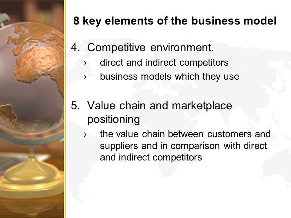 8 key elements of the business model