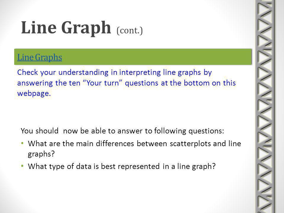 Line Graph (cont.) Line Graphs