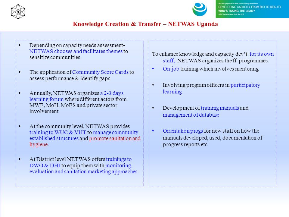 Knowledge Creation & Transfer – NETWAS Uganda