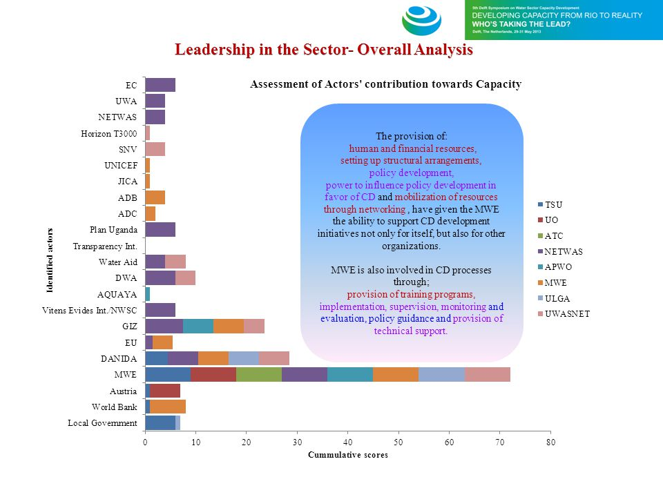 Leadership in the Sector- Overall Analysis