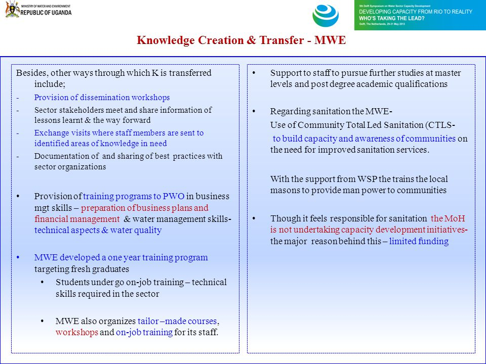 Knowledge Creation & Transfer - MWE