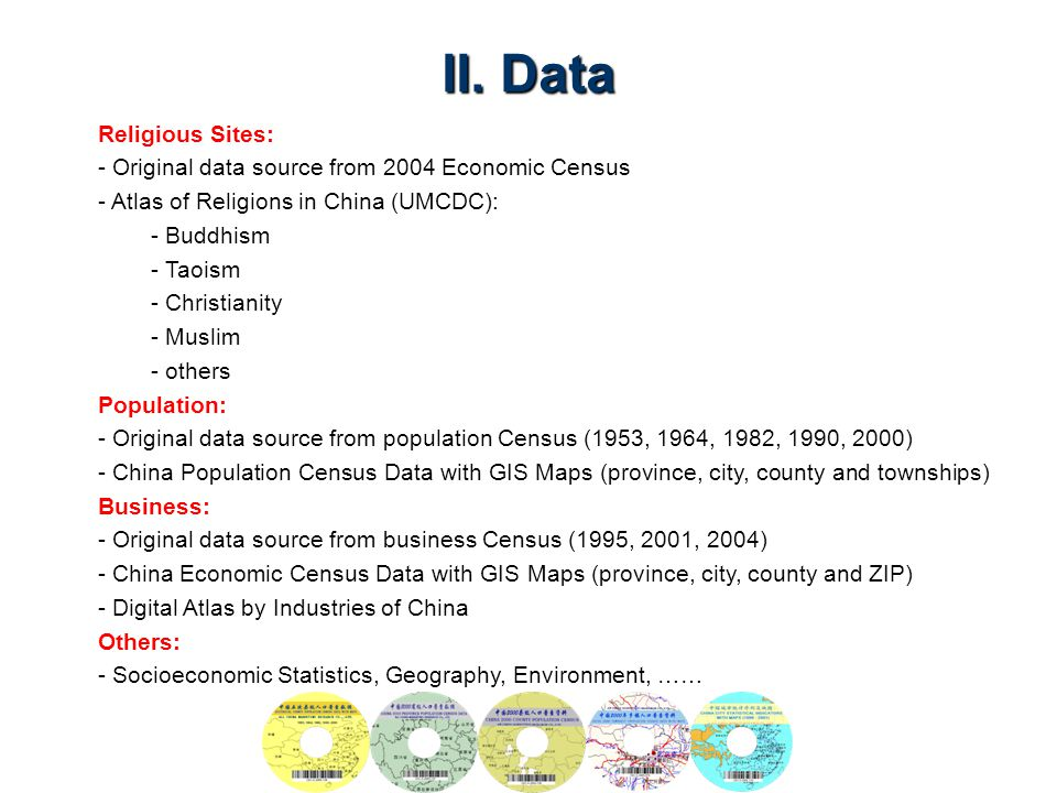 II. Data Religious Sites: