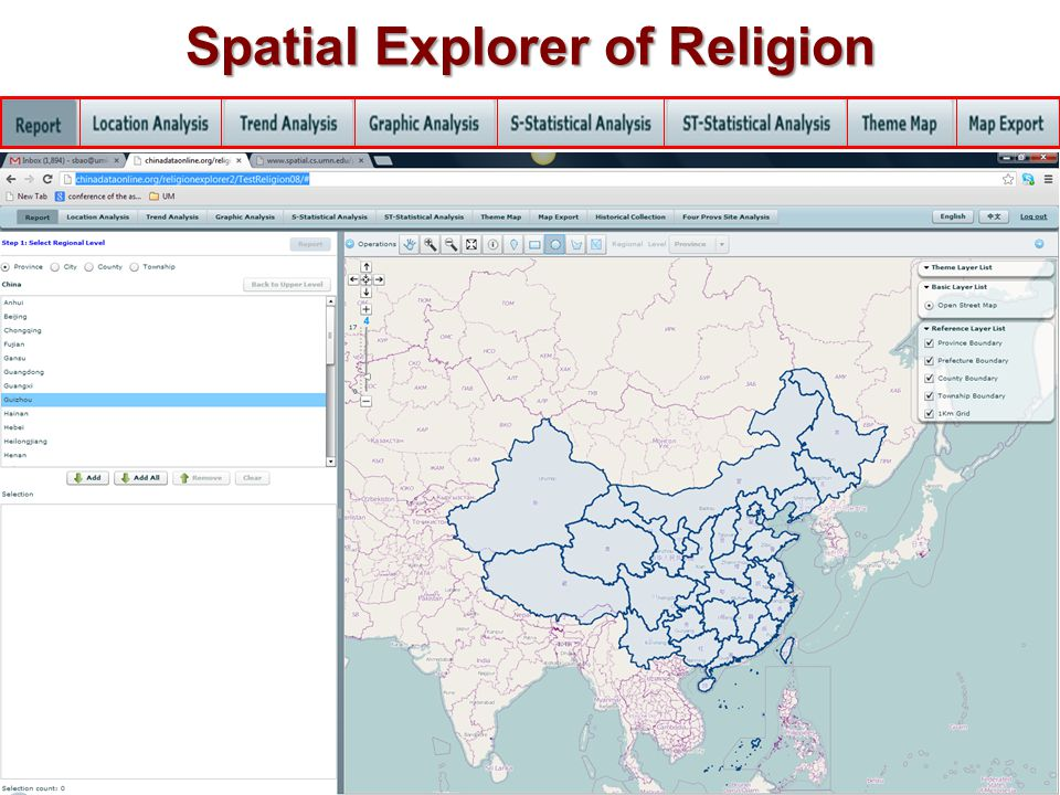 Spatial Explorer of Religion
