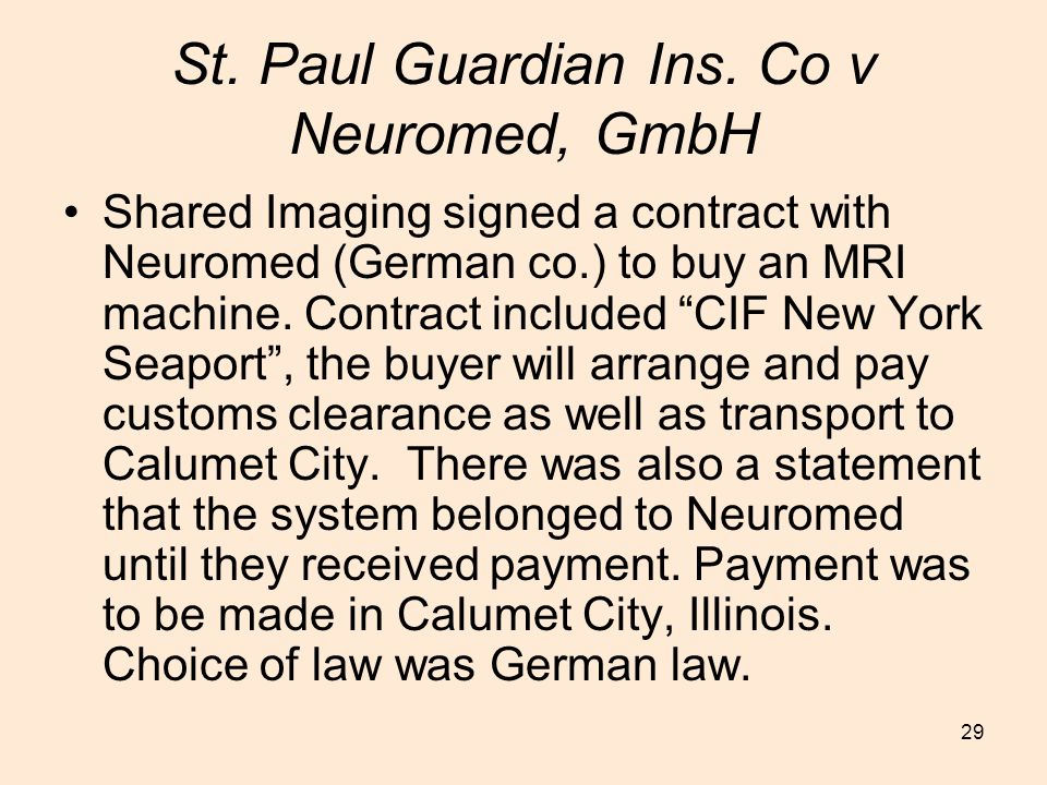 St. Paul Guardian Ins. Co v Neuromed, GmbH