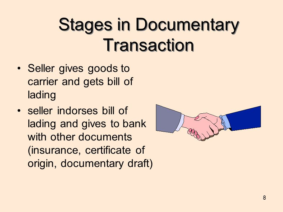 Stages in Documentary Transaction