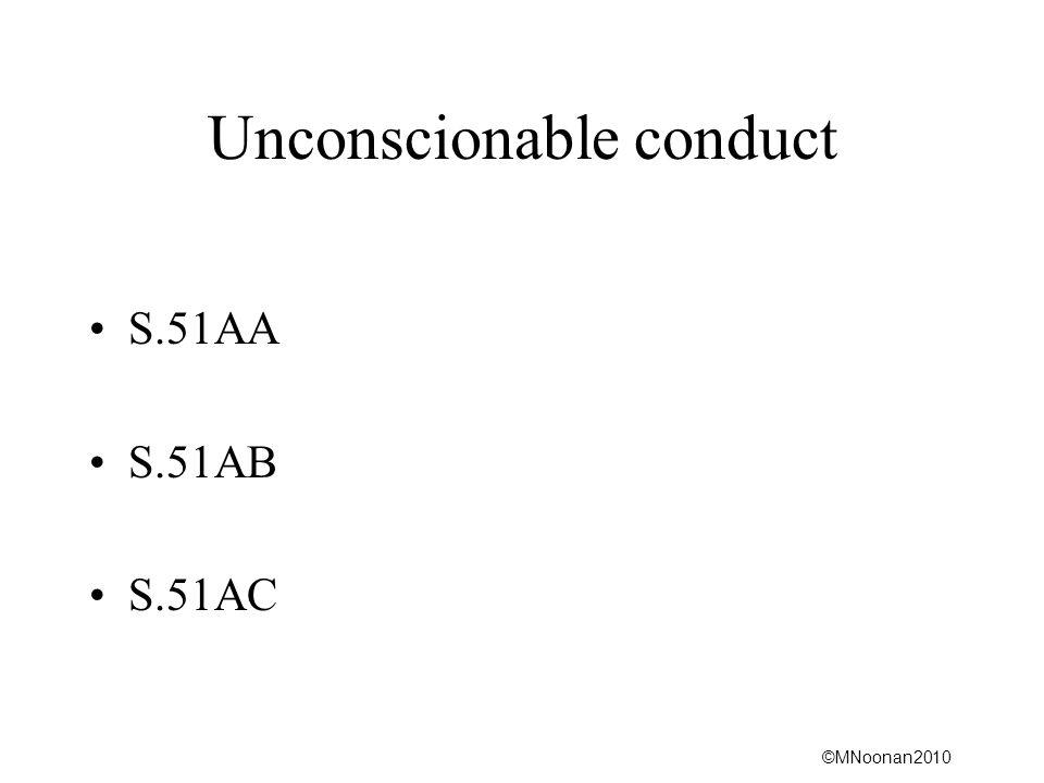 Unconscionable conduct